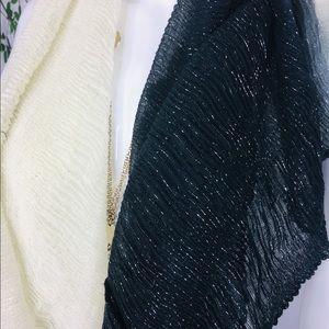 Cejon Accessories - Cejon Women's Ombré Black White Infinity Scarf New